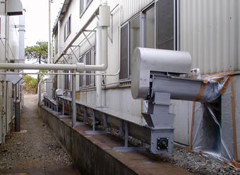 食品工場の残渣外部配送ライン