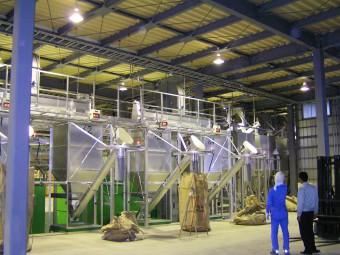キノコ栽培用菌床(培地)製造設備